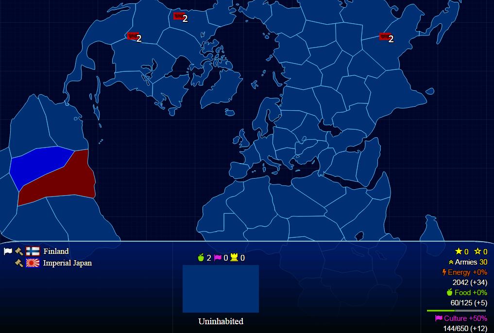 Flat Earth Map SVG